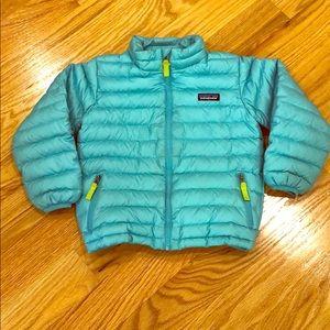 GIRLS size 5T Patagonia down sweater jacket